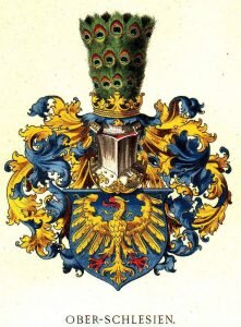 """Herb górnośląski autorstwa Hugo Ströhla w jego """"Österreichisch-Ungarische Wappenrolle"""""""