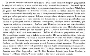 Tekst lokacyje Bytōmia we Codex Diplomaticus Silesiae, t. 6, Breslau 1865
