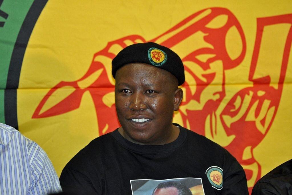 Julius Malema, fot. Gary van der Merwe / Wikimedia Commons
