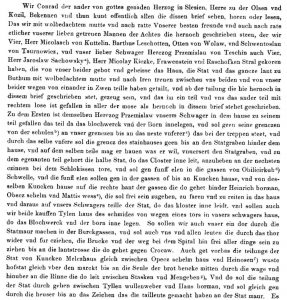 Tekst poczōntku dokumyntu podziału Bytōmia we Codex Diplomaticus Silesiae, t. 6, Breslau 1865
