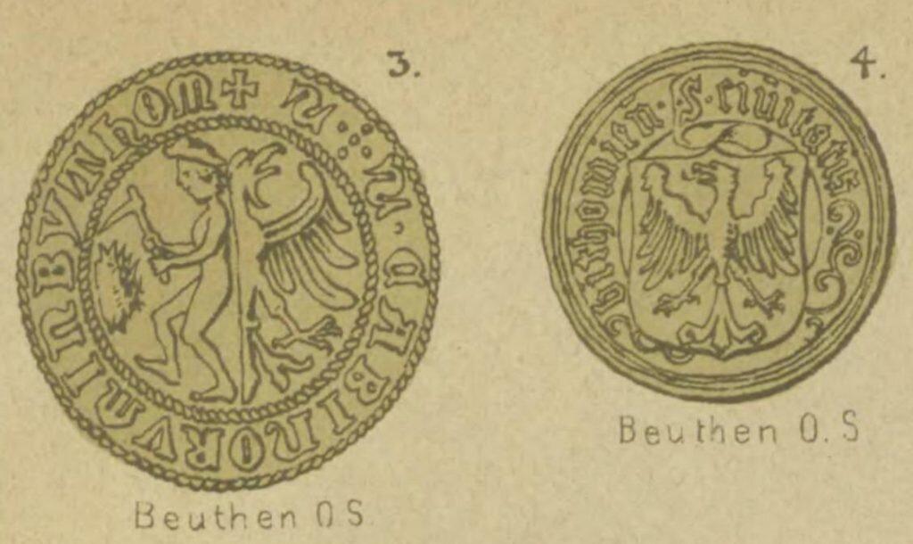 Piyrsze bytōmske sztymple we Wappenbuch der Schlesischen Städte und Städtel, Berlin 1870