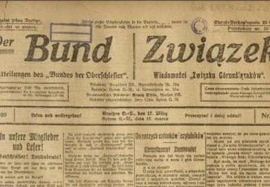 """Z dawnej prasy śląskiej: """"Der Bund – Związek"""""""