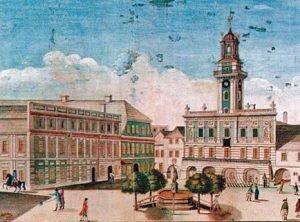 Rynek w Cieszynie w 1802 roku, Ignác Chambrez