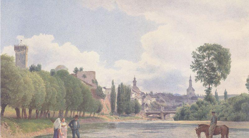 Widok na Cieszyn, Jakob Alt, 1840