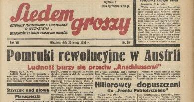 """Z dawnej prasy śląskiej: """"Siedem groszy"""" 1938 r."""