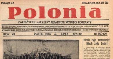 """Z dawnej prasy śląskiej: """"Polonia"""""""