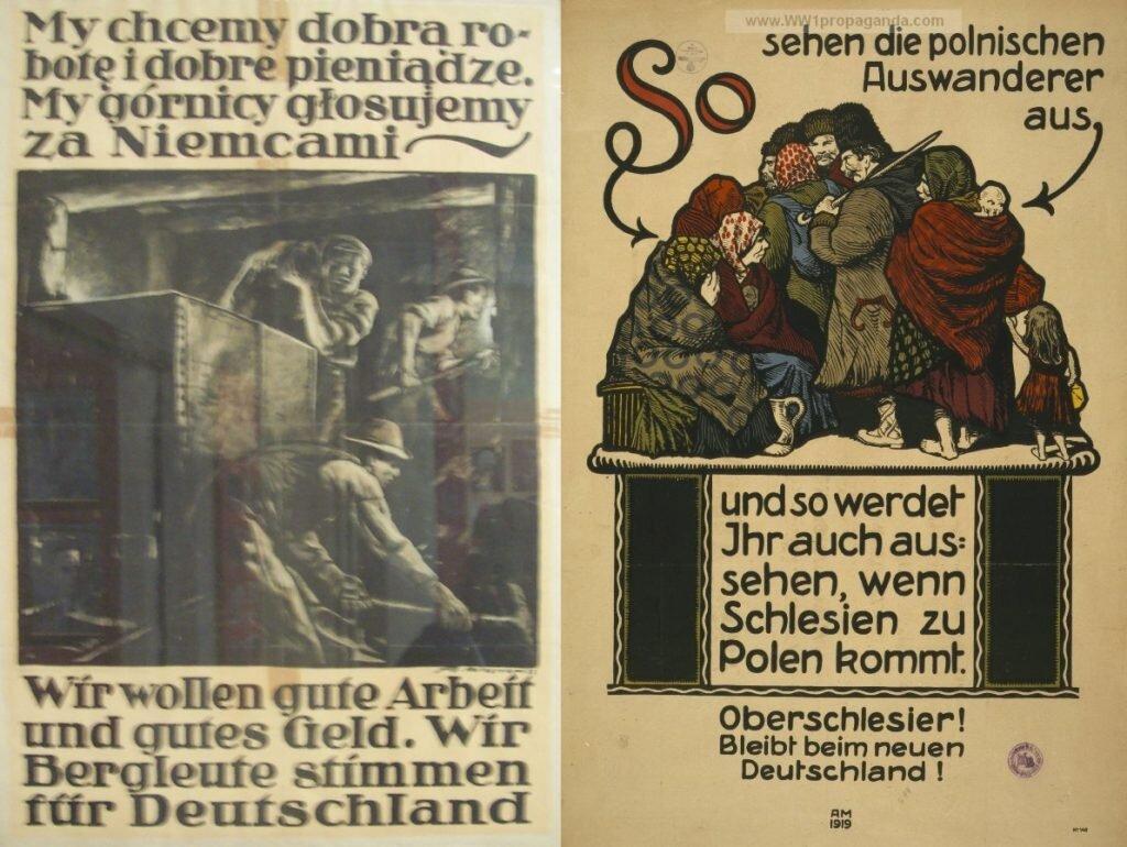 Ulotki niemieckie: chcemy pracy i pieniędzy, więc wiadomo na kogo głosujemy, spójrzcie tylko na emigrantów z Polski – tak wyglądać będziecie i wy, gdy nadejdą polskie rządy