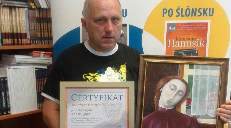 Złoty certyfikat i obraz Jarka Kassnera dla Joachima Dronia
