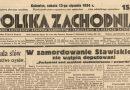 """Z dawnej prasy śląskiej: """"Polska Zachodnia """" 1934"""