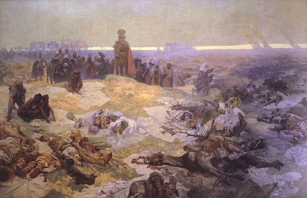Po bitwie pod Grunwaldem - Alfons Mucha
