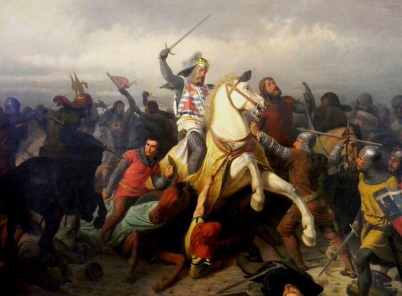 Jōn Luksymburski we bataliji pod Crecy, kaj straciōł życie