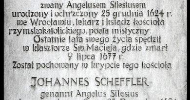 Do artykułu o Angelusie Silesiusie p. Aleksandra Lubiny zdań parę