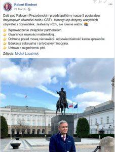 """Semantyka Wiosny w akcji. """"Obywateli i obywatelek"""", a kilka linijek niżej już samo """"sprawców""""."""