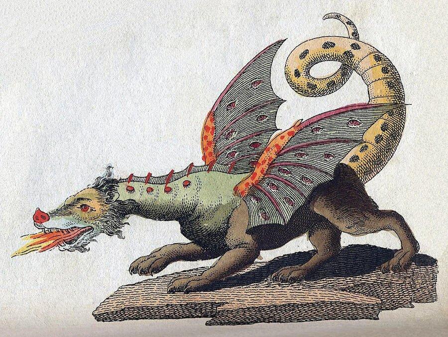 Friedrich Johann Justin Bertuch - mityczny stwōr drach