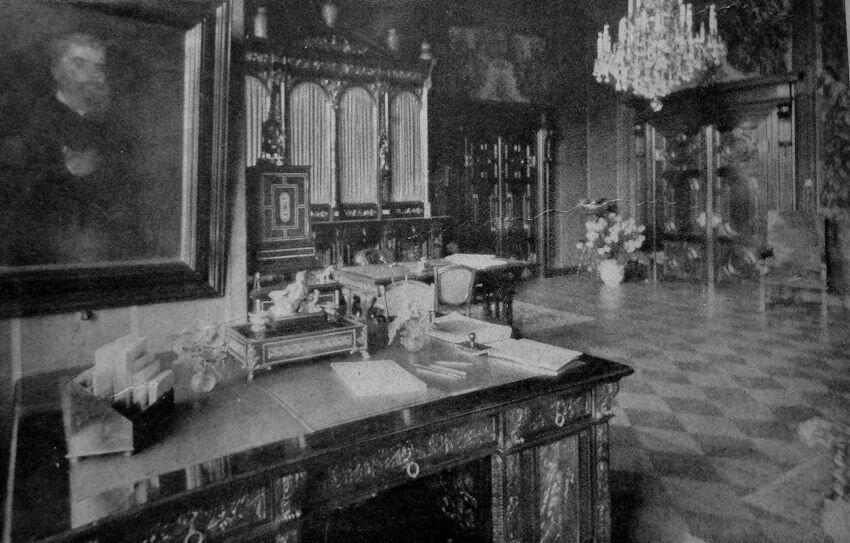 gabinet w pałacu w reptach
