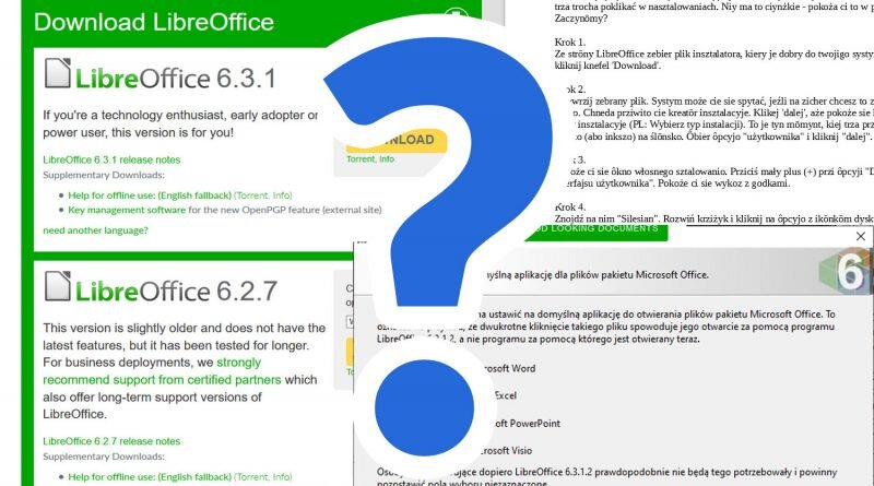Krok po kroku: Jak zainstalować LibreOffice po ślōnsku?