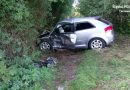 auto we przikopie po wypadku