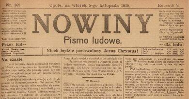 """Z dawnej prasy śląskiej: """"Nowiny – pismo ludowe"""" 1918"""