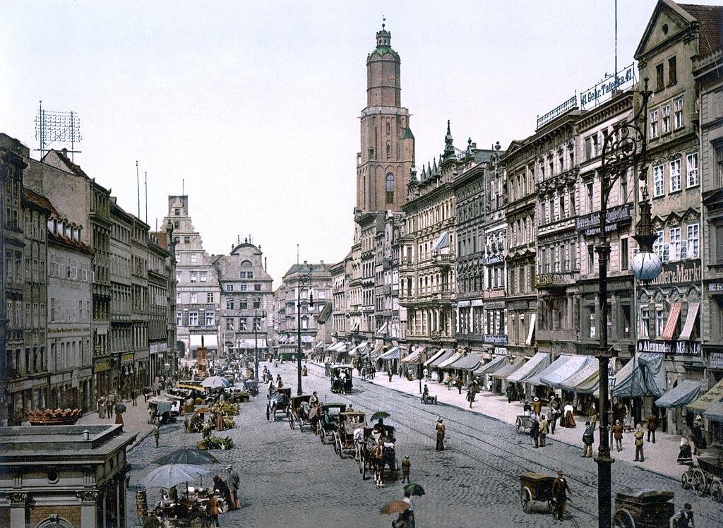 Wrocławski Rynek około 1890-1900 roku