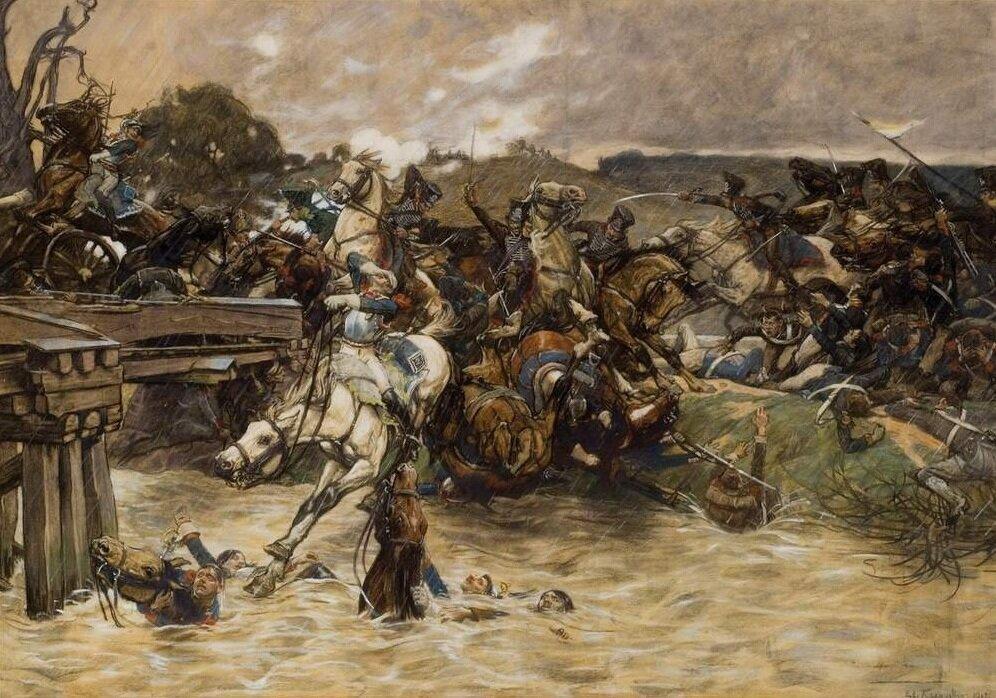 Eduard Kaempffer (przed 1927), Bitwa nad Kaczawōm