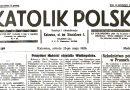 """Z dawnej prasy śląskiej: """"Katolik Polski"""" 1929"""