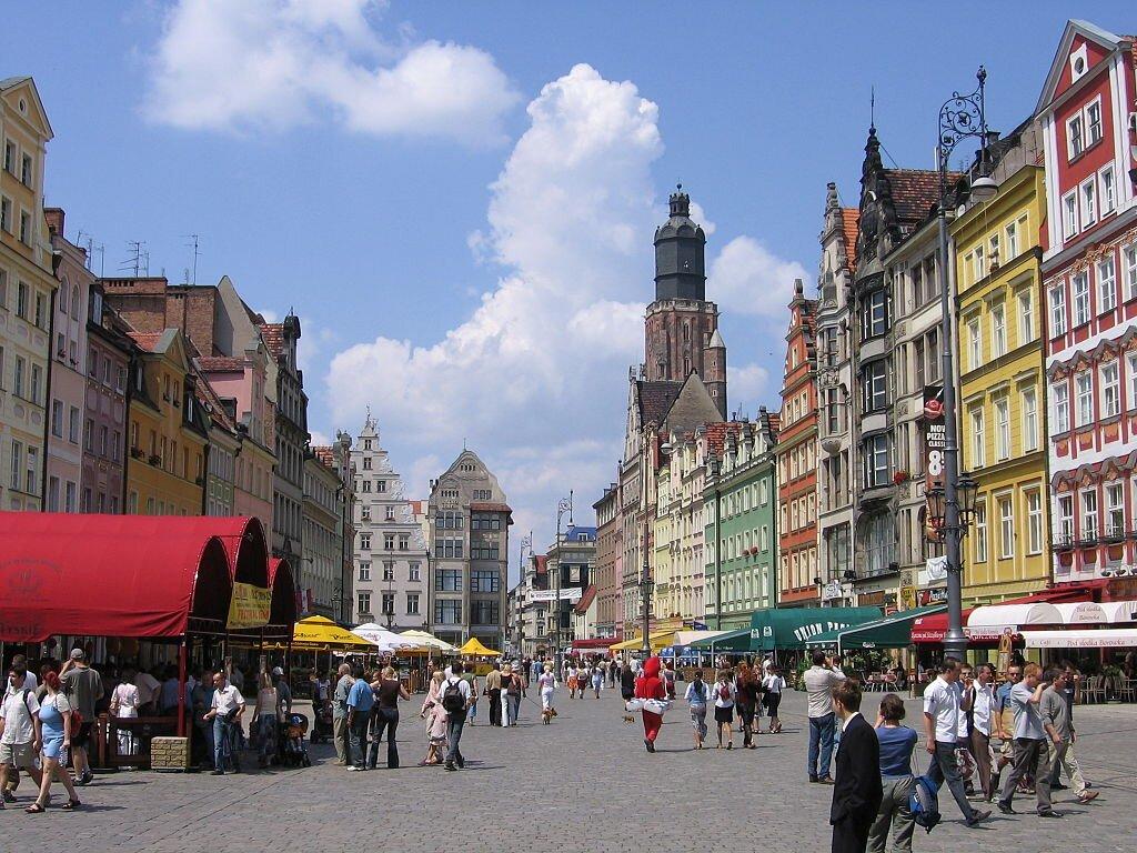 Wrocławski Rynek w 2005 roku.