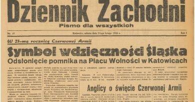 """Z dawnej prasy śląskiej: """"Dziennik Zachodni"""" 1945"""