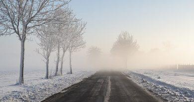 Mgła nad Górnym Śląskiem koło Prószkowa