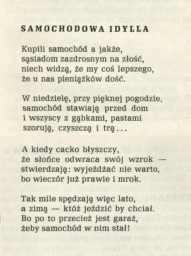 Jeden z wierszy Wandy Pribulowej opublikowanych w antologii Mrowisko (Ostrava 1964)