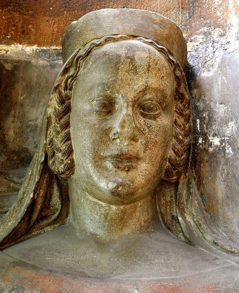 Popiersie Blanki de Valois z triforium praskiej katedry św. Wita