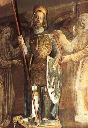Rzeźba św. Wacława w kaplicy św. Wacława w Pradze