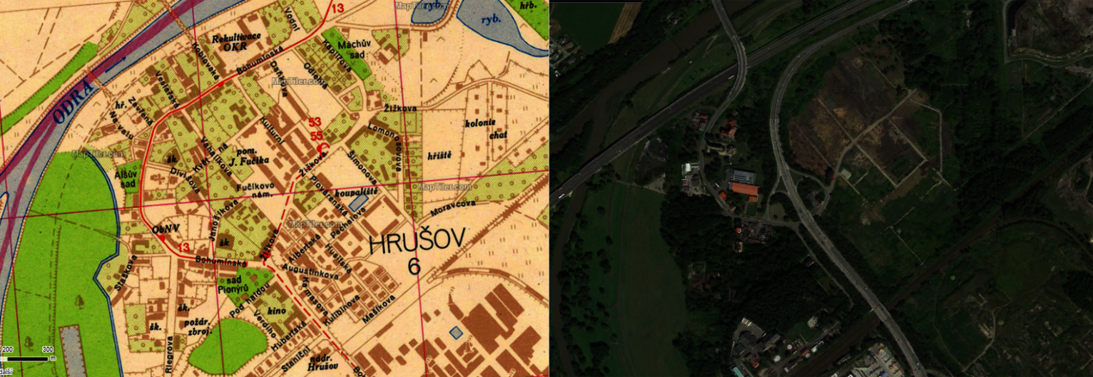 Hruszōw w roku 1964 i 2020