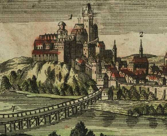 Fryderyk Bernard Werner, Panorama Cieszyna wydana w 1741 roku, Śląska Biblioteka Cyfrowa