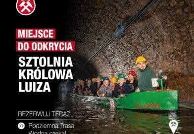 Zabrze: Podziemna Trasa Wodna w Sztolni Królowa Luiza znów czynna!