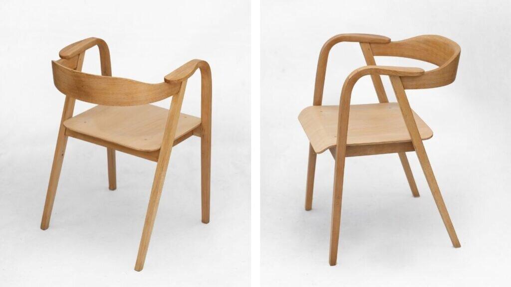 Marian Sigmund, fotel 591, produkcja Bielskie Zakłady Przemysłu Drzewnego w Jasienicy, 1958, dzięki uprzejmości lekkafurniture.pl