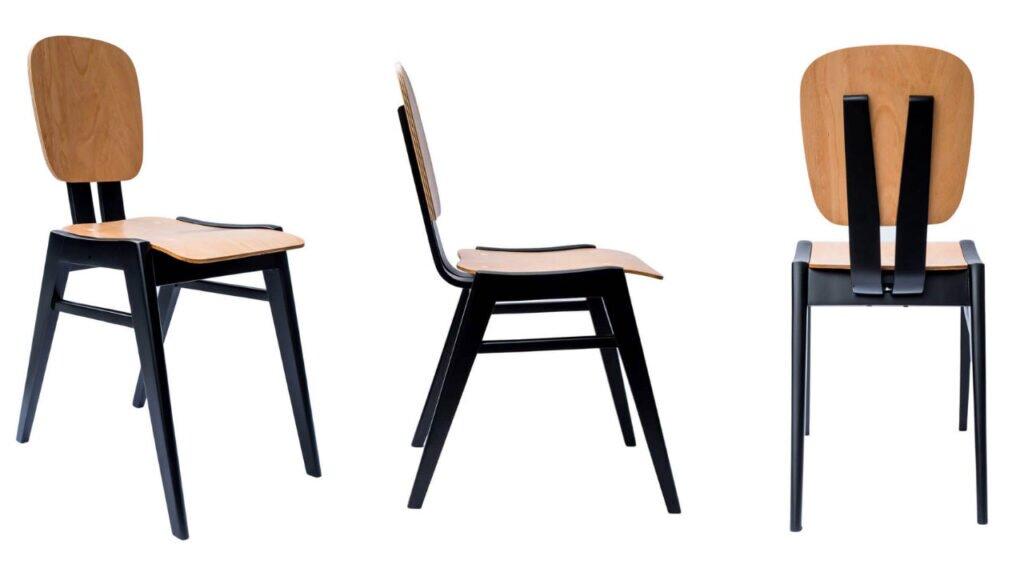 Marian Sigmund, krzesło B584, produkcja Bielskie Zakłady Przemysłu Drzewnego w Jasienicy, 1958, dzięki uprzejmości hemma.store