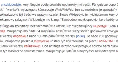 Przikłŏd artykułu na ślōnskij Wikipedyji