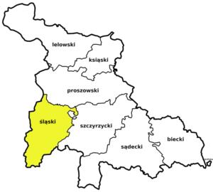 Powiat śląski województwa krakowskiego w I Rzeczpospolitej