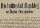 Do ludności śląskiej na Śląsku Cieszyńskim! (1920)